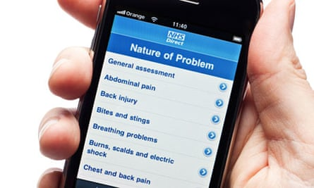 Helpful? An iPhone with the NHS Direct app.