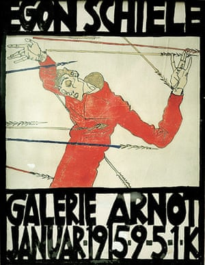 Rest is Noise: Poster for Schiele's exhibition in the Arnot Gallery