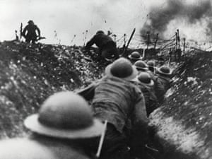 Rest is Noise: British troops go over the top in the trenches