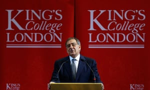 US defence secretary Leon Panetta delivers a speech in London