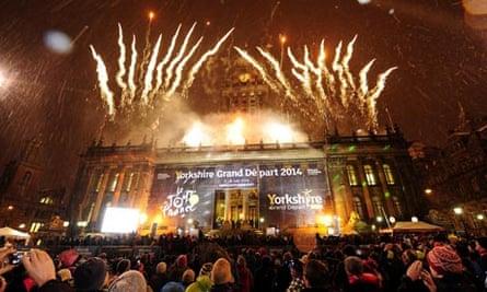Tour de France announcement fireworks in Leeds