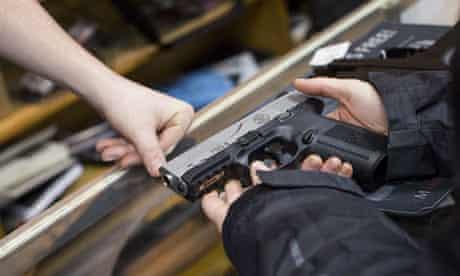 Blue Ridge Arsenal gun shop, Chantilly, Virginia, America - 11 Jan 2013