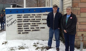 Matthew and Tammy Manning outside their home