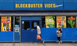 A Blockbuster store in London