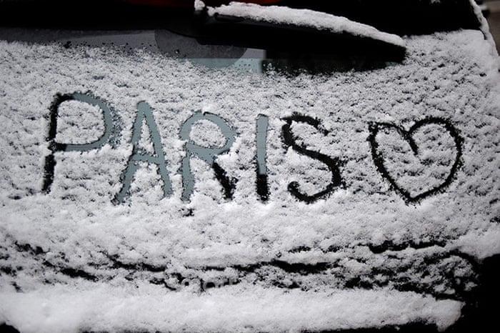 نتیجه تصویری برای snow paris