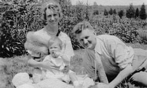 Sylvia Plath with her parents Aurelia and Otto