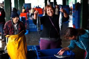 FTA: Rodrigo Abd: Dockworker Gloria Juliana Raya poses for a photo at the port in El Callao