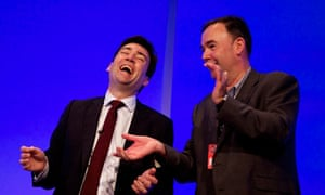 John Cruddas and Andy Burnham at Labour party conference