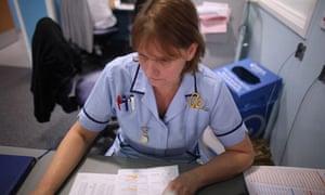 Nurse at hospital desk