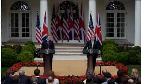 Bush Blair white house