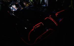 24 hours: Scottsdale, Arizona, US: A woman sits in the original Batmobile