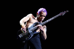 Football: Flea of The Red Hot Chilli Peppers performs at Big Day Out 2013 in Sydney