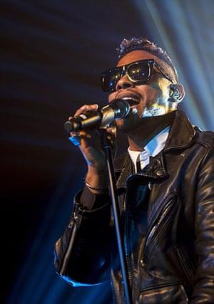 Football: Miguel performs on stage in Birmingham, UK