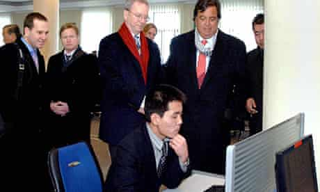 Google executive chairman Eric Schmidt and former New Mexico governor Bill Richardson in North Korea