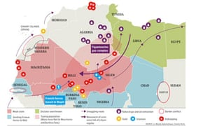 Troubled north Africa - map