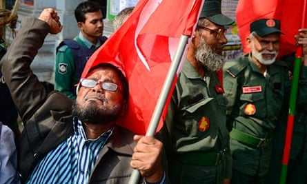 Activists and veterans of the Bangladesh war of independence demonstrate in Dhaka