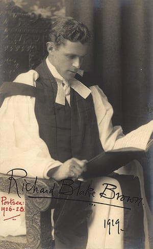 Family Secrets: A Hollywood style portrait of the curate Richard Blake Brown, 1929