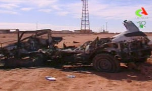 This image taken from Algerian TV, broadcast on Sunday, shows what it said was the aftermath of the hostage crisis at the remote In Amenas gas facility in Algeria.