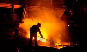 Tata Corus steelworks in Port Talbot