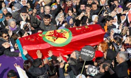 Funeral ceremony for murdered Kurdish activists