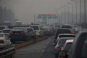 smog crisis in China: China air pollution
