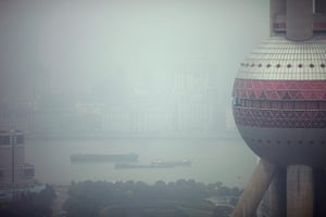smog crisis in China: The Oriental Pearl Tower is seen on a hazy day in Shanghai