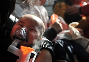 smog crisis in China: Babies given nebulizer therapy as severe air pollution hits Beijing