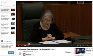 Lady Hale on supreme court YouTube channel
