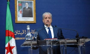 Abdelmalek Sellal, the Algerian prime minister, speaks to reporters at a press conference on the attack on In Amenas gas complex, in Algiers.