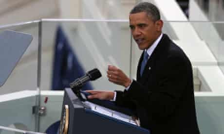 President Barack Obama gives his inauguration address. For details of the speech see our live blog.