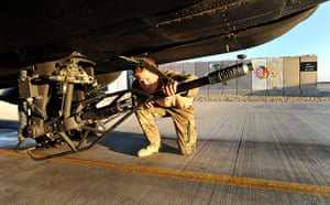 Harry in Afghanistan: Prince Harry does a pre-flight check