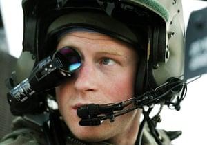Harry in Afghanistan: Prince Harry wears his monocle gun sight