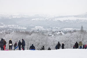 Readers' snow pictures: Northcliff sledging