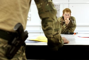 Prince Harry Afghanistan: Prince Harry attends a mission briefing