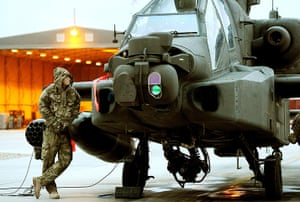 Prince Harry Afghanistan: Prince Harry makes his early morning pre-flight checks