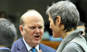 Irish finance minister Michael Noonan was in Brussels today for the meeting of the EU finance ministers.