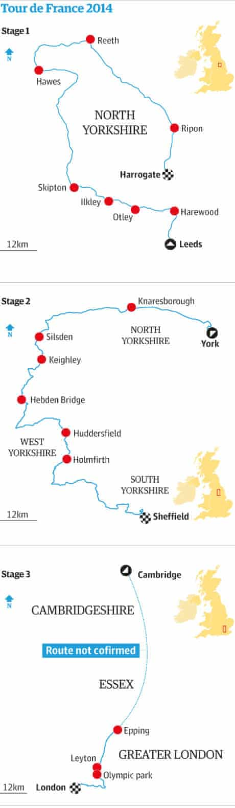 The English stages of the 2014 Tour