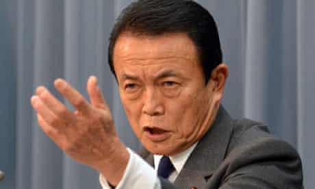 Japanese finance minister Taro Aso