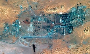 The gas plant and the town of In Amenas in Algeria