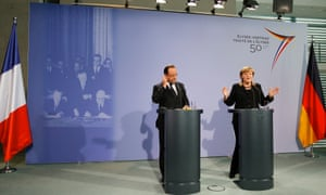 German chancellor Angela Merkel and French president Francois Hollande plan a deeper economic and monetary union.
