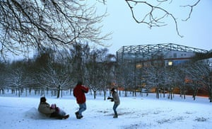 Villa Park in snow
