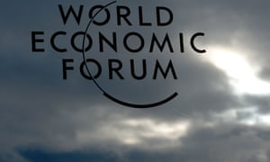 A logo of the World Economic Forum is on a window of the congress centre on January 22, 2013 at the Swiss resort of Davos.