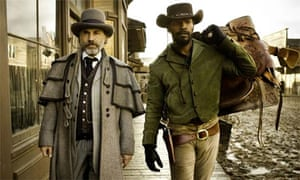 Christoph Waltz Jamie Foxx in Django Unchained