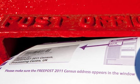 Census form being posted