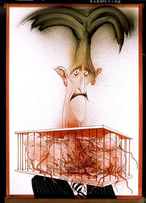 Orwell by Steadman: Steadman's illustration of Orwell