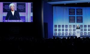 International Monetary Fund (IMF) chief Christine Lagarde addresses the annual meeting of the World Economic Forum (WEF) in Davos January 23, 2013.