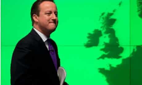 David Cameron after speech