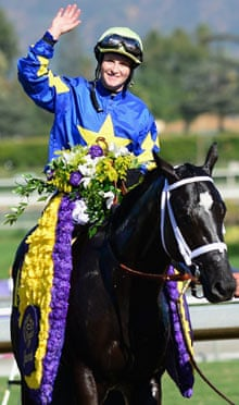 Jockey Rosie Napravnik riding Shanghai B