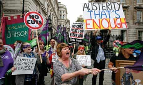 An anti-austerity march in London