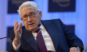 Former US secretary of state Henry Kissinger at the WEF in Davos.